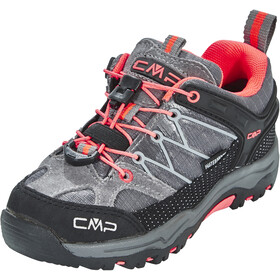 CMP Campagnolo Kids Rigel Low WP Trekking Shoes Grey-Red Fluo